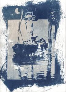 Hoi An Boat Cyanotype
